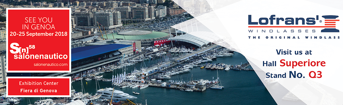 Lofrans' at Genoa Boat Show 2018