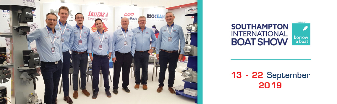 Visitors amazed by LOFRANS' number of solutions during the Southampton boat show!